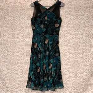 Laundry Shelli Segal Sleeveless Floral Silk Dress